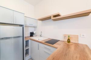 A kitchen or kitchenette at Lemonia Accommodations