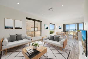 A seating area at Taren Point beach house