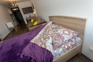 Кровать или кровати в номере апартаменты-Площадь 1905г