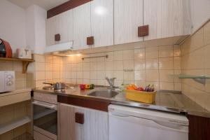 A kitchen or kitchenette at Appartment Gentianes A.
