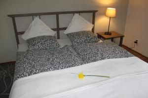 A bed or beds in a room at Apartman u Hradcan