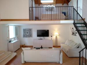 A television and/or entertainment center at Villa alcyone