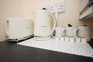 Coffee and tea-making facilities at Bradford serviced apartments