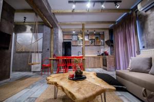 Χώρος καθιστικού στο ThessEasyLiving Apartments