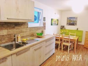 A kitchen or kitchenette at River Cave Apartment Slovenia