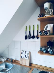 Kuhinja oz. manjša kuhinja v nastanitvi Urban herbs apartment
