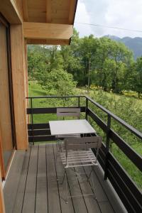 Balcon ou terrasse dans l'établissement Le chalet des Pierres