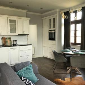 Köök või kööginurk majutusasutuses Apartament Nad Jeziorem Dlugim