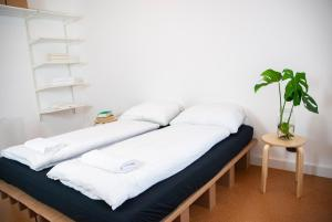A bed or beds in a room at new design apartment