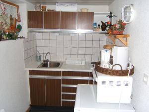 Cuisine ou kitchenette dans l'établissement Gitehaushaltermerkwiller