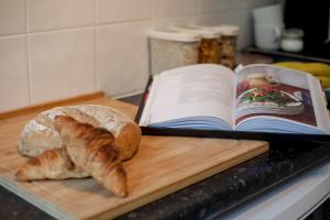 Breakfast options available to guests at Bright, spacious & peaceful in sunny Dennistoun