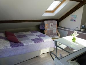 Un ou plusieurs lits dans un hébergement de l'établissement au cédre bleu