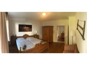 Postelja oz. postelje v sobi nastanitve Ferienwohnung Messewohnung München Ost