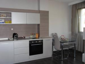 A kitchen or kitchenette at VIP Apartaments Galina