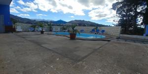 The swimming pool at or near Casa La Caldera