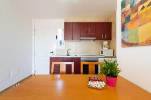A kitchen or kitchenette at Calypso Family Apartments