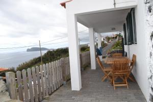 Balcony o terrace sa Casinha de Muda da Feteira