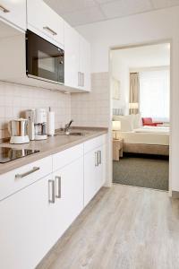 ゲステハウス パウリーネにあるキッチンまたは簡易キッチン