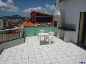 A balcony or terrace at Residencial Ilhas Gregas