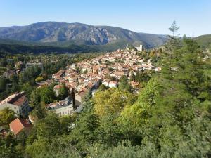 Vue panoramique sur l'établissement la catalane