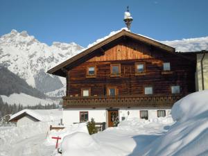 Ferienhaus Höchhäusl during the winter