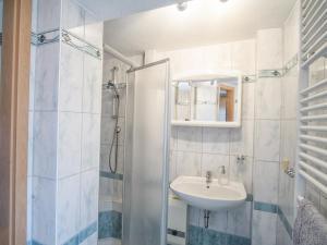 A bathroom at Ferienwohnung in der Telle