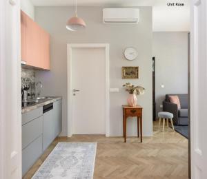 A kitchen or kitchenette at Prestige Apartments Ljubljana