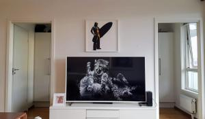 A television and/or entertainment centre at Will Inn Apartments