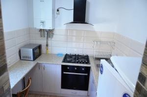 Кухня или мини-кухня в Kvartira, smart domik posutochno