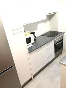 A kitchen or kitchenette at Madrid rio