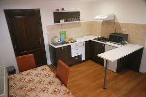 A kitchen or kitchenette at Apartament Beius