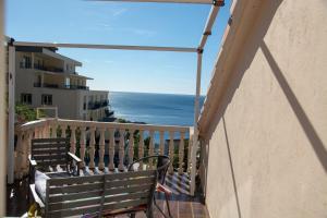 A balcony or terrace at Apartments Lazar