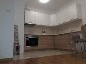 A kitchen or kitchenette at Apartman Lukana