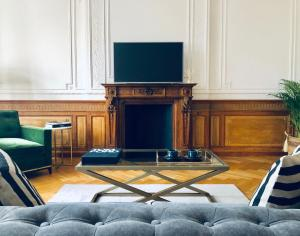 A television and/or entertainment center at Palace Court Apartments