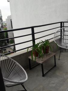 A balcony or terrace at Av Congreso 3 paxs