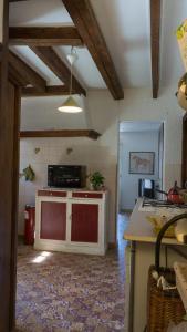 Cuisine ou kitchenette dans l'établissement Ancienne bergerie en pierres & son jardin
