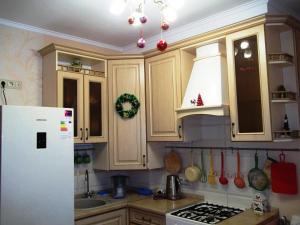 Кухня или мини-кухня в Apartment on Pestelya