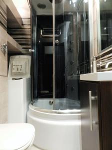 A bathroom at Rynek Manana