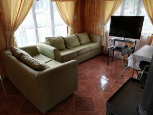 A seating area at Cabanas San Gabriel