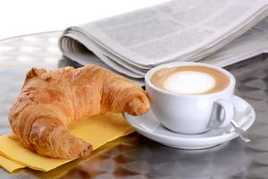 Breakfast options available to guests at La Casina Rossa