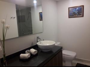 A bathroom at Guadalupe Inn CDMX, NUEVO ESTRENA