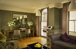A seating area at Citadines South Kensington London