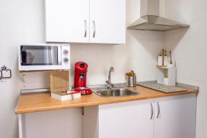Cuisine ou kitchenette dans l'établissement Toledo Mágico