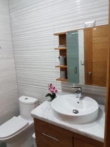 A bathroom at Ocean View Santo Domingo