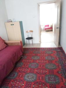 Кровать или кровати в номере Апартаменты на Светлогорской 27