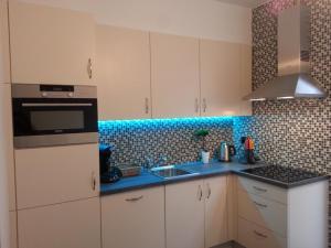 A kitchen or kitchenette at Huis van Vletingen Apartment