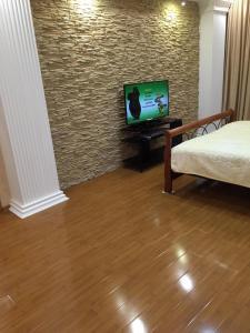 Телевизор и/или развлекательный центр в Апартаменты на Владикавказской