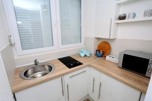 Una cocina o zona de cocina en Apartman City Lux