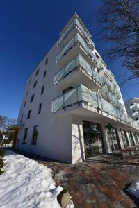 Deniz Apartment v zime