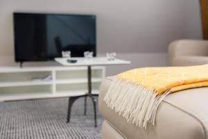 A television and/or entertainment center at Zurich Furnished Homes